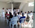 Acadêmicos do 6.º período de Nutrição realizam palestra para grupo de HIPERDIA em Córrego dos Monos