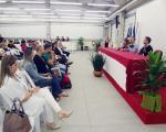 Discussão sobre a atuação do Profissional da Educação Física em evento do curso